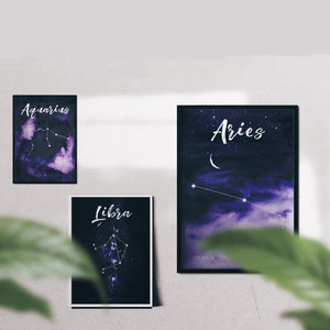 'Celestial' Star Sign A4 Prints - Five And Dime