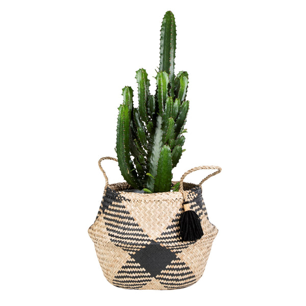 Geometric Tassel Seagrass Basket