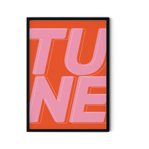 'Tune' A3 Print - Five And Dime