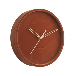 Velvet Wall Clock - Clay Brown