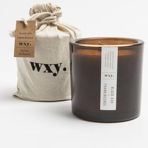 WXY Black Ash & Frankincense Candle 17oz - Five And Dime