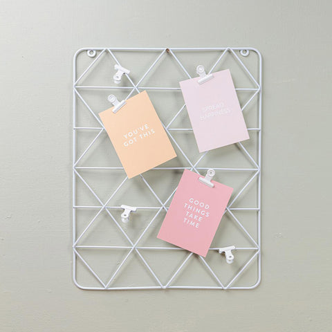 White Wire Wall Grid (With Clips)
