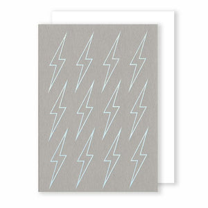 Lighting Bolts - Foiled Card - Five And Dime