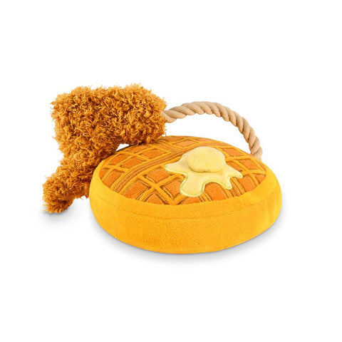 'Chicken and Woofles' Plush Dog Toy