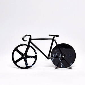 Pizza Cutter 'The Fixie' Black Marble - Five And Dime