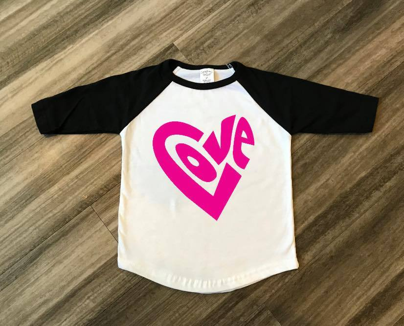Love Toddler Raglan