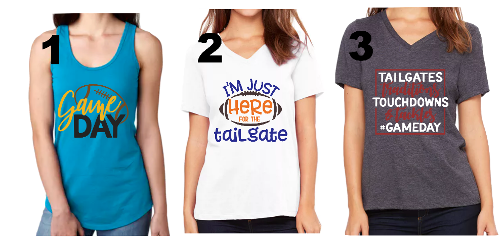 Choose Your Own Football Design Shirt or Tank