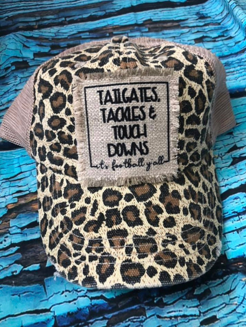 Tailgates, Tackles and Touchdowns! It's football ya'll- hats