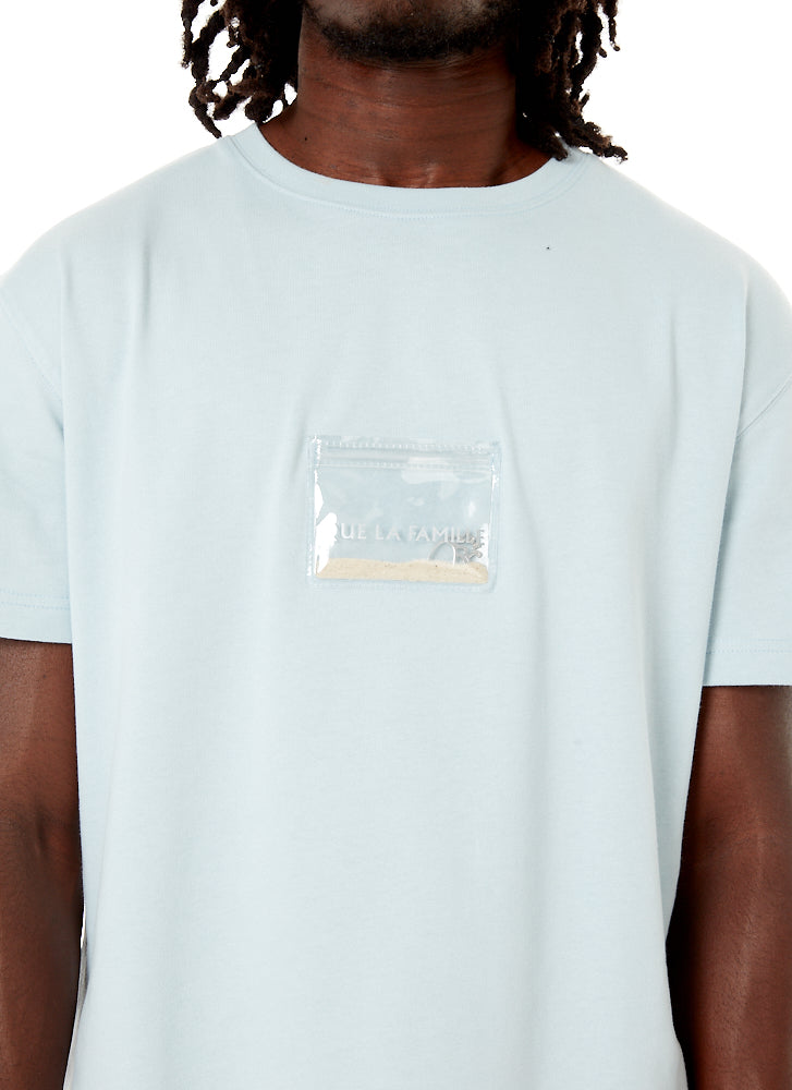 T-shirt Poche Sable Bleu