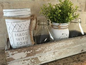 Paint and Distress Glass Jars - Quick Craft