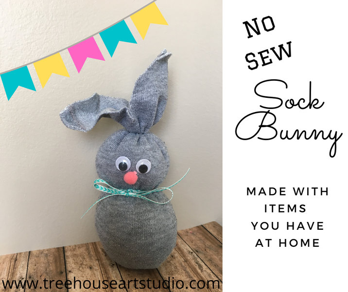 At Home Craft: No Sew Sock Bunnies