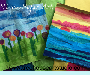 At Home Craft: Tissue Paper Art