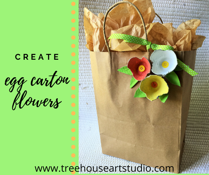 At Home Craft: Egg Carton Flowers
