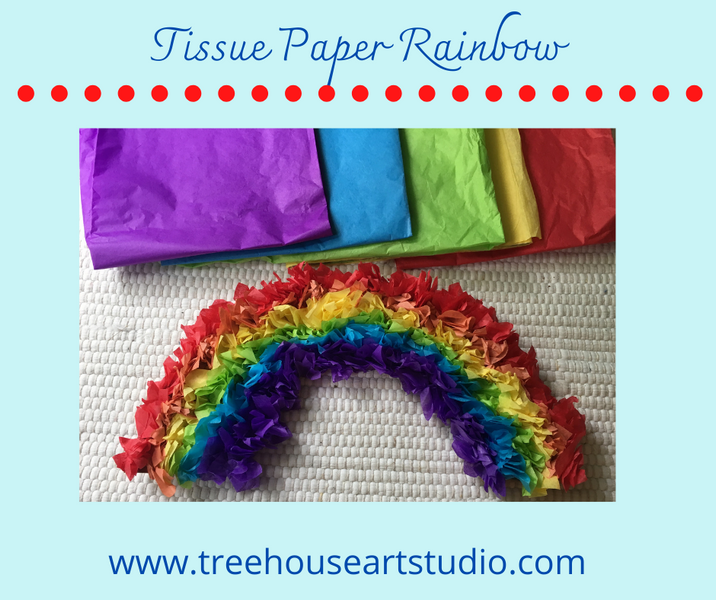 At Home Craft: Tissue Paper Rainbow