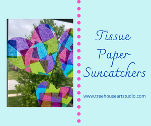 At Home Craft: Tissue Paper Suncatchers
