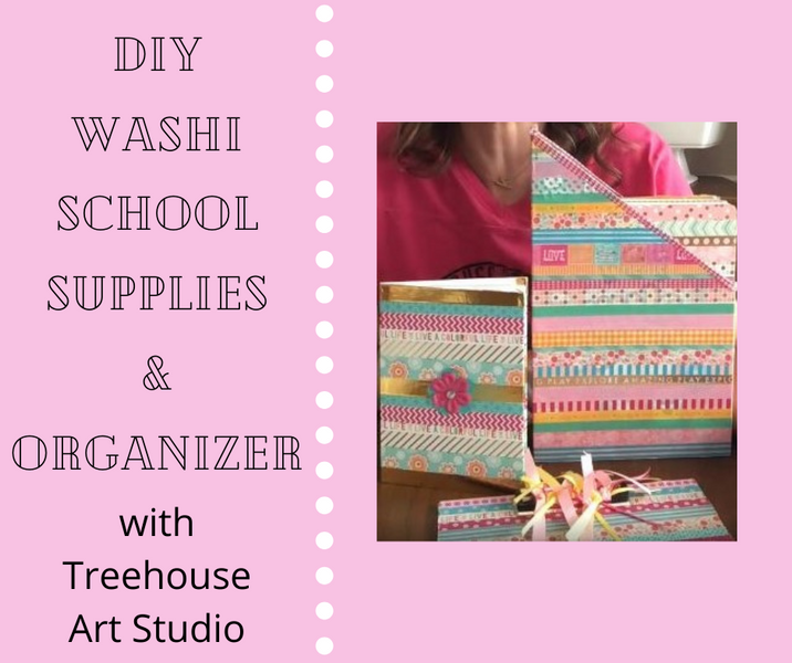 At Home Craft: Washi School Supplies and Organizer