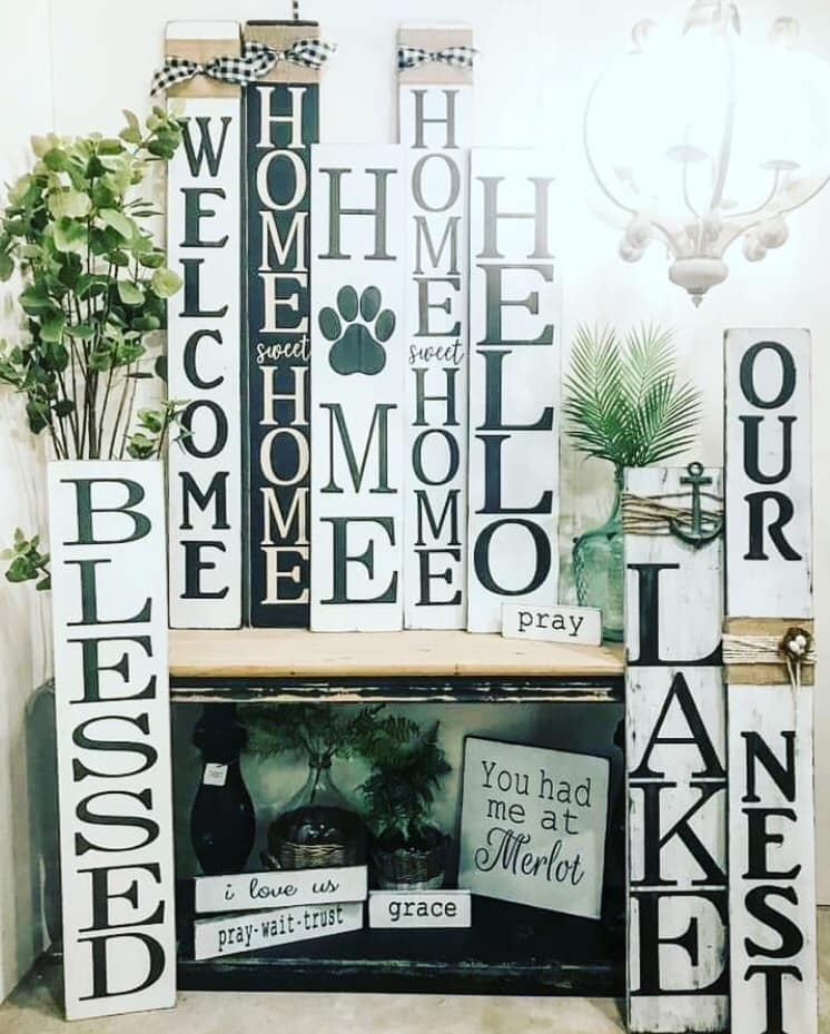 farmhouse decor, handmade signs