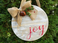 joy sign, rustic holiday decor