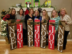 ladies night out, wood signs, art parties
