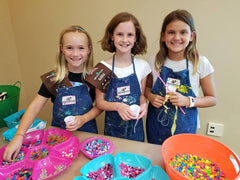 girl scout art workshops, bridging ceremony
