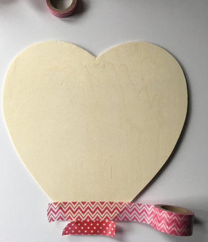 diy valentine decor, washi heart