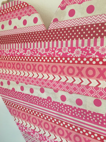 diy valentine's decor, washi heart, valentine's day crafts, valentine's day door decor
