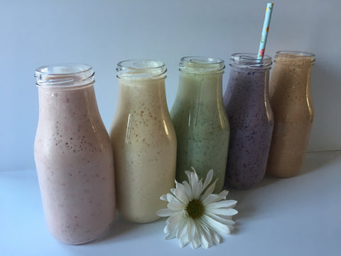 smoothies made with yogurt