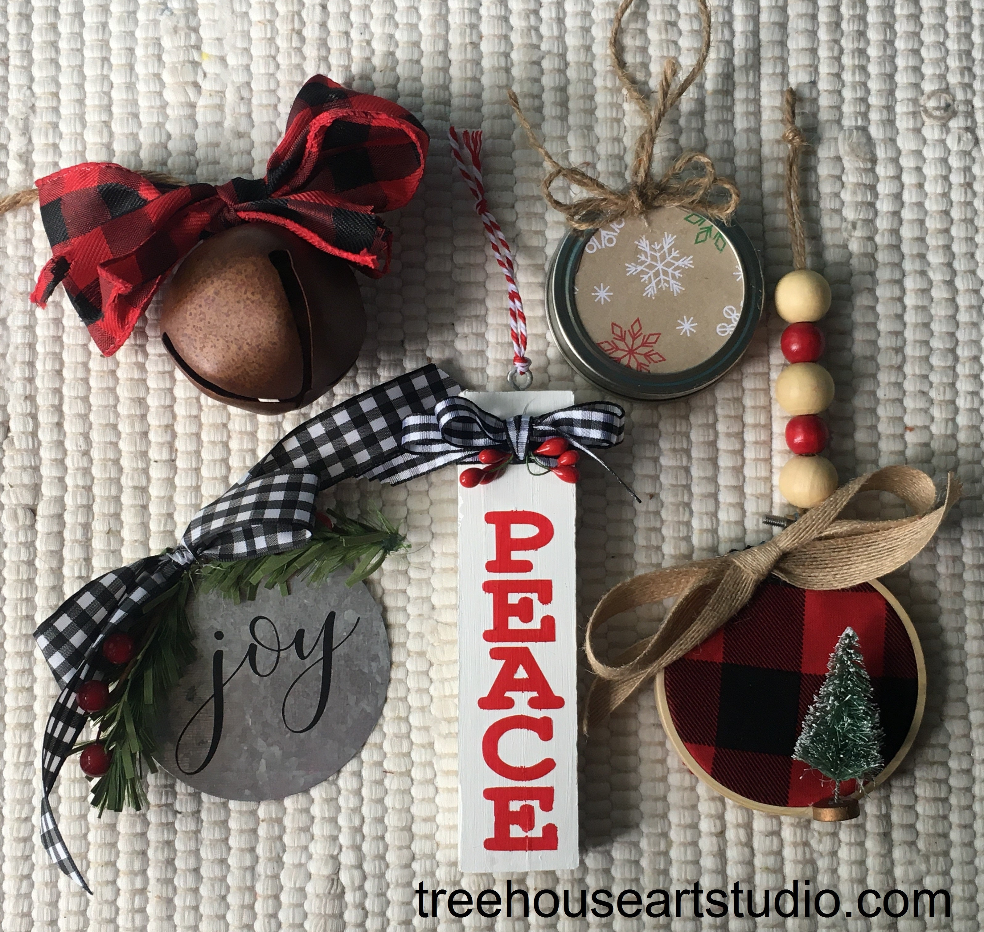 ornament making workshop, ladies day out, craft classes, diy farmhouse ornaments