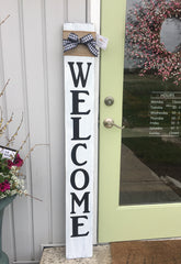welcome handmade farmhouse porch sign