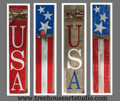 patriotic porch sign, usa porch sign, 4th of July porch sign