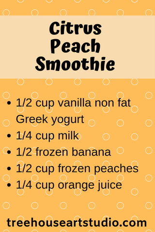 recipe for citrus peach smoothie