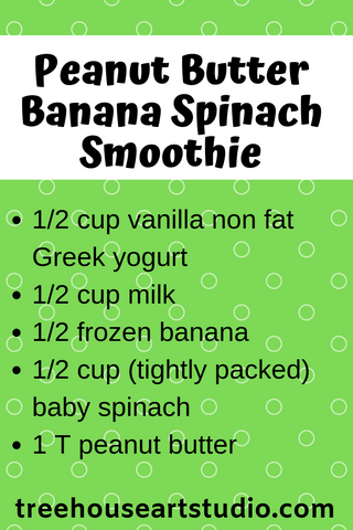 recipe for peanut butter banana spinach smoothie