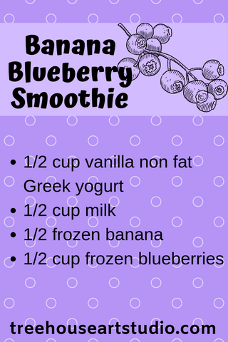 recipe for banana blueberry smoothie