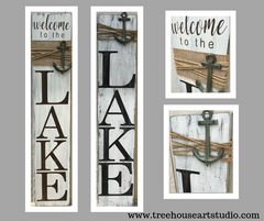 welcome to the lake porch sign