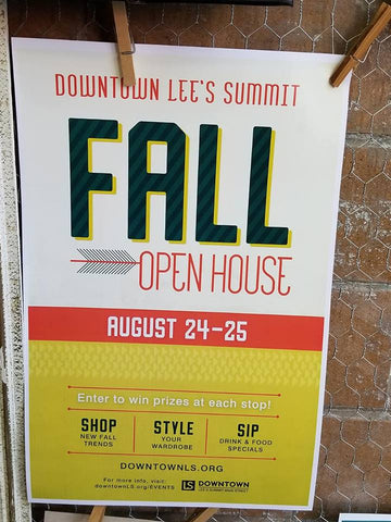 downtown Lee's Summit, Missouri fall open house