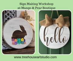 Crafting and Shopping round Sign Making Workshop, Ladies Night Out
