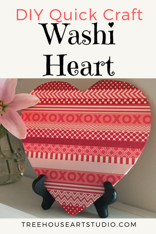 Washi Heart DIY Quick Craft