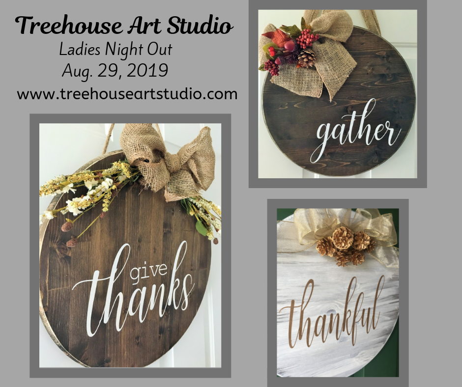 Ladies Night Out: Fall Round Sign - Aug. 29, 2019
