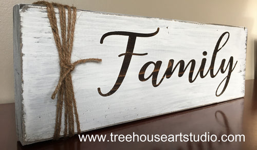 Craft Kit - Wood FAMILY tabletop