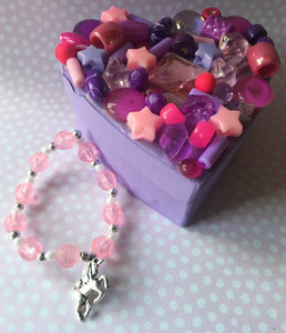Craft Kit - Trinket Box and Unicorn Bracelet