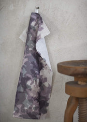 Camouflage Tea Towel Plum