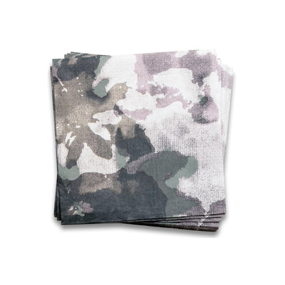 Camouflage Paper Napkins Grey Green