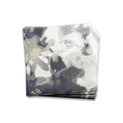 Camouflage Paper Napkins Nearly Black
