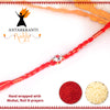 Single Gem Crystal Rakhi with Roli Chawal & Haldi Kalawa For Men