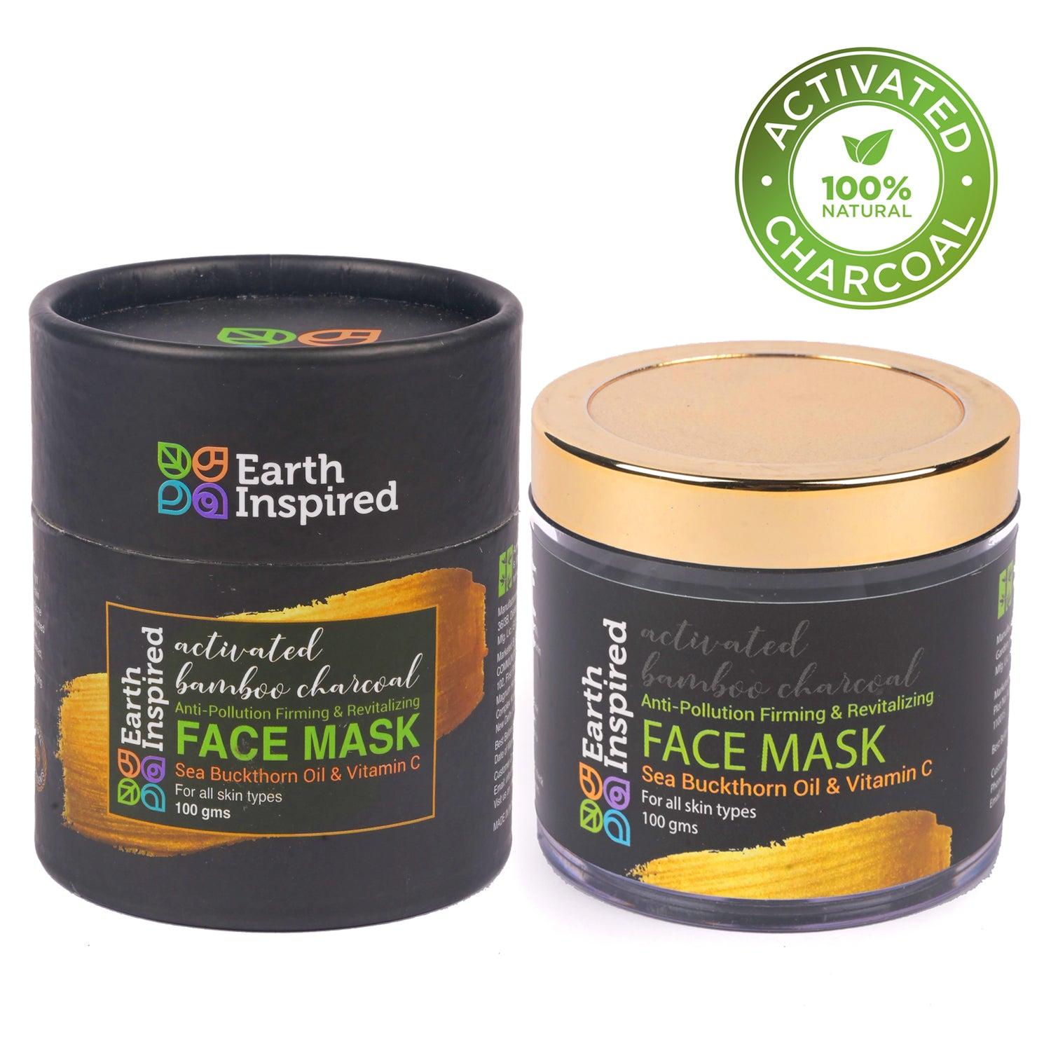 Activated Bamboo Charcoal Face Mask by Earth Inspired