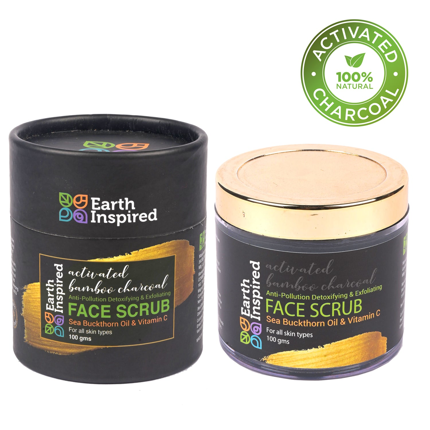 Activated Bamboo Charcoal Face Scrub | Earth Inspired