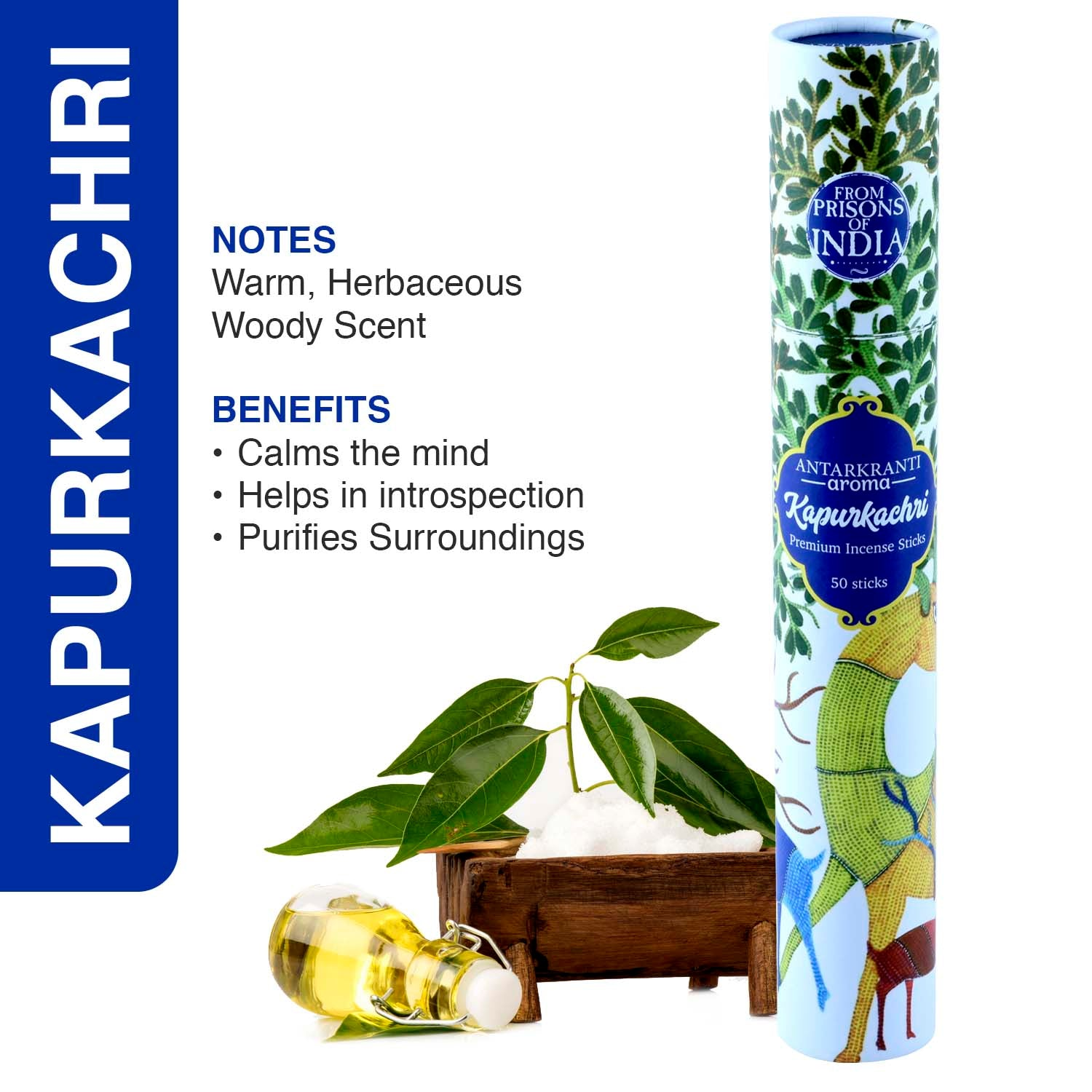 KapurKachri Incense Stick | 100% Natural Agarbatti | Charcoal Free