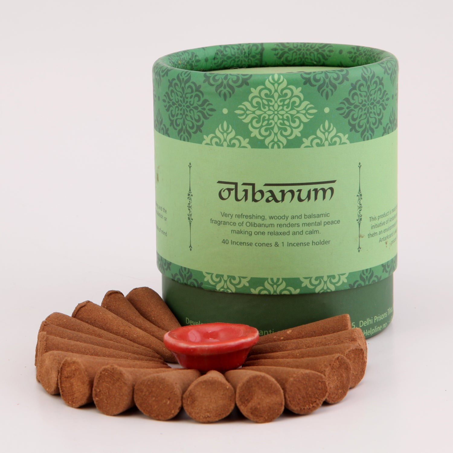 Olibanum fragrance Incense Dhoop cones with a holder