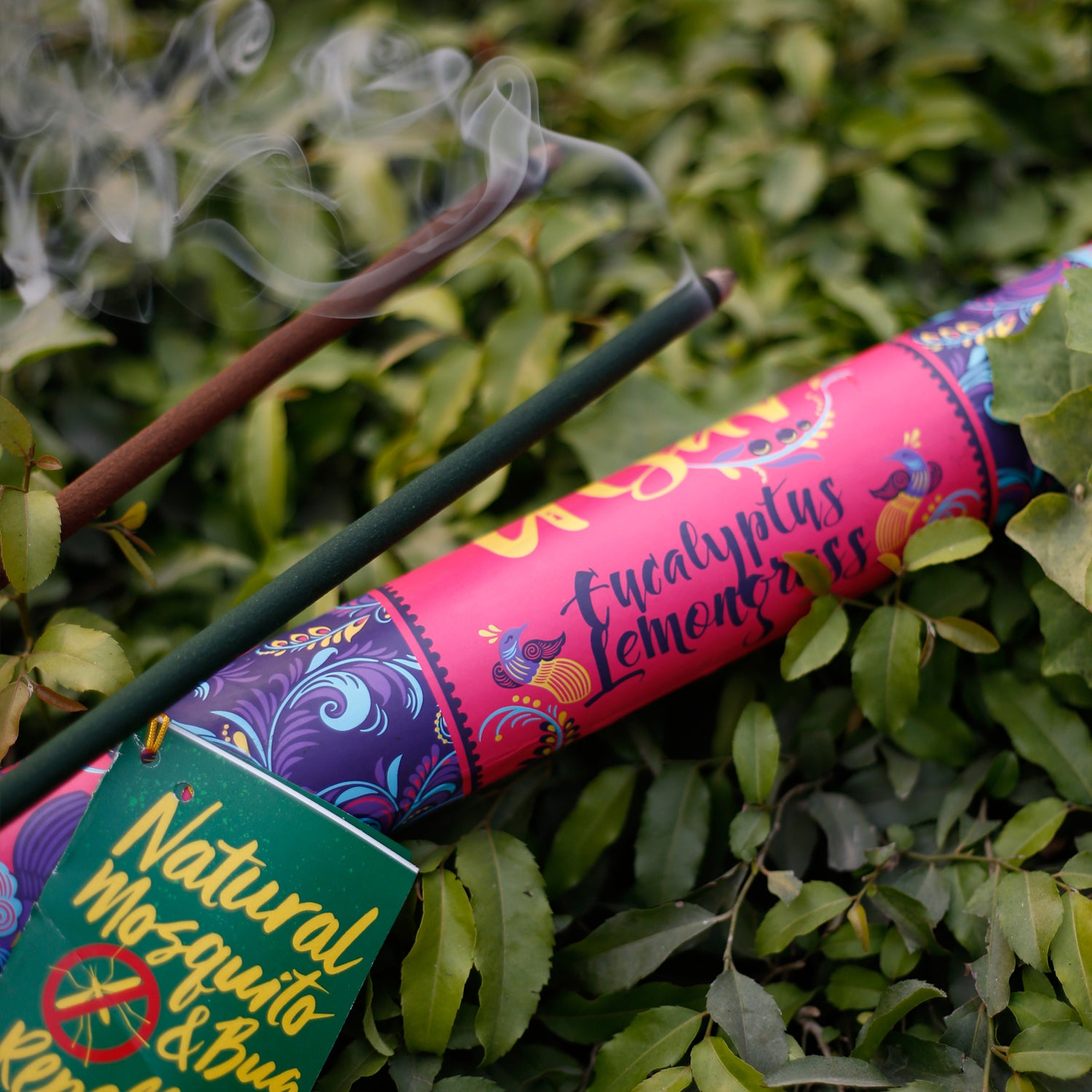 Lemongrass-Eucalyptus Garden Incense Stick | Natural Mosquito & Bug Repellent