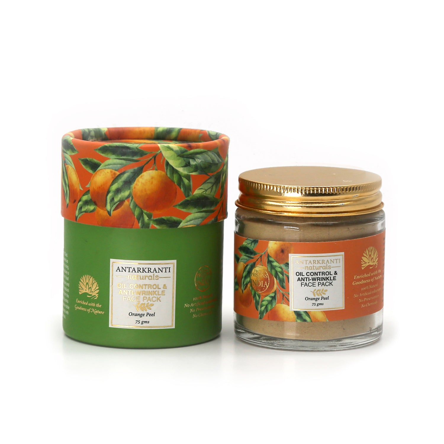 Orange Peel Oil Control & Anti-Wrinkle Face Pack